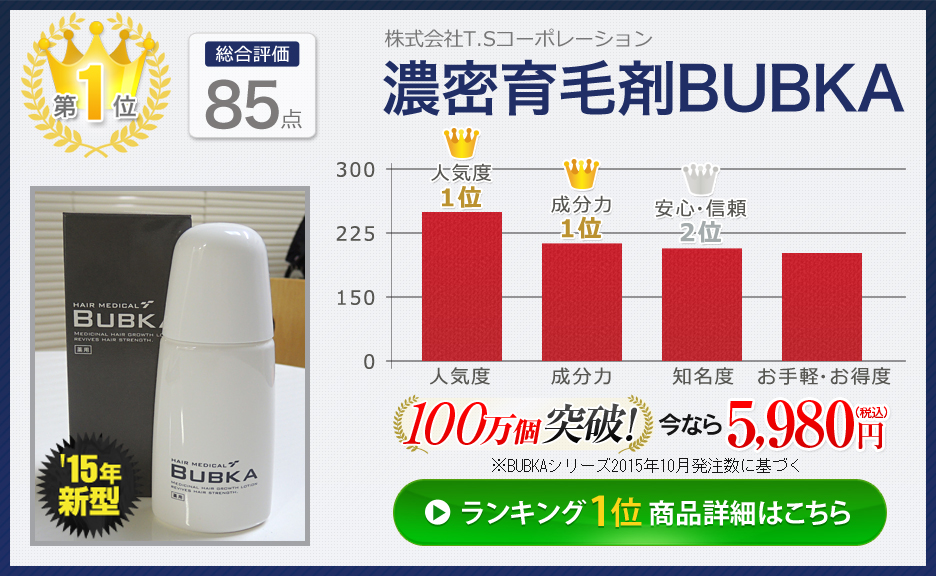 第1位 濃密育毛剤BUBKA